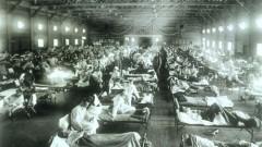 """בי""""ח מאולתר לחולי שפעת. מגיפת 1918 (מקור: ויקיפדיה)"""