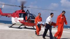 """פינוי רפואי מוסק (צילום: פיוטר פליטר, באדיבות דוברות בית החולים רמב""""ם)"""