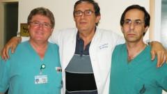 """מימין: ד""""ר ארנולד שטיין, פרופ' טיבריו עזרי וד""""ר מריאן ויסנברג (צילום: ברק נונא)"""