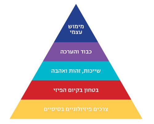 תרשים 1:  הפרמידה של מאסלו