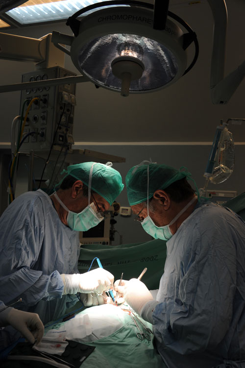 """צילום מהניתוח (מקור: בי""""ח לגליל המע' נהריה)"""