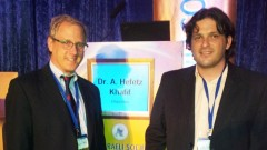 """מימין ד""""ר יאב לייסר משמאל פרופסור מאיירס האורח (צילום: בי""""ח רמב""""ם)"""
