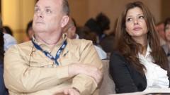 """חה""""כ אורלי לוי ופרופסור שאול דולברג במהלך הטקס (צילום: יח""""צ)"""