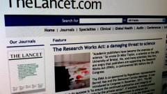 אתר The Lancet מגנה את החרם (צילום מסך)