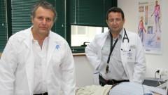"""ד""""ר ירון ריבר וד""""ר מרק קזצקר, מנהלי המרפאה החדשה לטיפול בהתעלפות בהלל יפה (צילום: ציון יחזקאל. באדיבות: דוברות בית החולים הלל יפה)"""