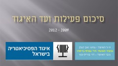 למצגת סיכום פעילות האיגוד 2009-2012
