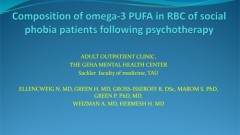Composition of omega-3 PUFA in RBC of social phobia patients following psychotherapy
