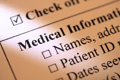 פרטים אישיים של מטופל (אילוסטרציה)
