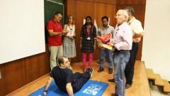 """ד""""ר מיכלסון ומשתתפי הקורס (התמונה באדיבות דוברות רמב""""ם)"""