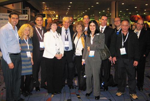 """בתמונה: חברי משלחת רמב""""ם לכנס איגוד הרדיולוגים האמריקני בשיקגו. (באדיבות דוברות רמב""""ם. צילום: יח""""צ)"""