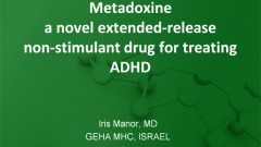 Iris Manor: Metadoxine a novel extended-release non-stimulant drug for treating ADHD