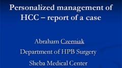 Personalized management of HCC – report of a case