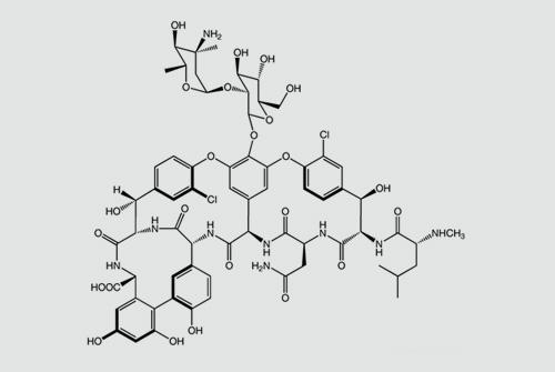 תרשים מבנה של ואנקומיצין (מקור: ויקיפדיה)