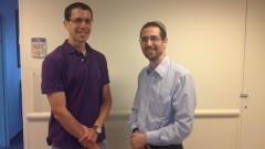 """ד""""ר ניר פילאר (משמאל) ודוקטור יעקב לורנס (צילום: יח""""צ)"""
