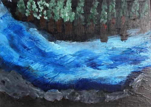 """נהר (ציור: ד""""ר אמי שופמן)"""
