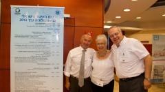 """מימין: ד""""ר פדלמן, גברת עדנה יורמן ופרופסור פיינר (צילום: ציון יחזקאל)"""