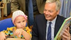 """סגן ראש ממשלת בלגיה בעת הביקור במחלקה להמטו-אונקולוגיה ילדים בהדסה (צילום: """"הדסה"""")"""