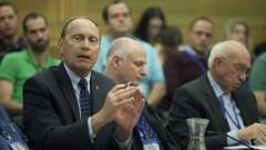 """יו""""ר הר""""י, ד""""ר ליאוניד אידלמן, במהלך דיון בוועדת הבריאות של הכנסת, 10/02/14 (צילום: פלאש 90)"""