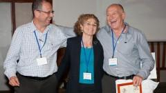 """מימין: ד""""ר ג'פרי (ג'ף) לדרר, ד""""ר מרטין גרנק קטריבס ופרופ' שלמה וינקר (צילום: יח""""צ)"""