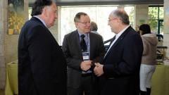 מימין: פרופ' פרץ לביא, פרופ' רפי ביאר, ראש יונה יהב, ראש עיריית חיפה יונה יהב (צילום: הטכניון)