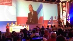 """ד""""ר ליאוניד אידלמן במהלך נאומו בוועידה ה-42 של הר""""י (צילום: """"דוקטורס אונלי"""")"""