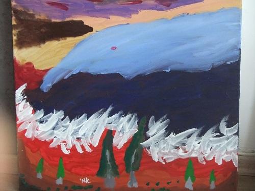 """""""סערה"""", ציורו של ד""""ר אמי שופמן (צילום: פרטי)"""