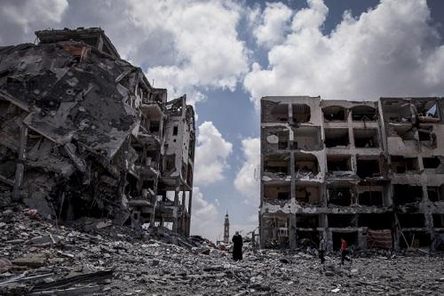 """שכונת בית לאהיה בעזה לאחר מבצע """"צוק איתן"""" (צילום: פלאש 90)"""