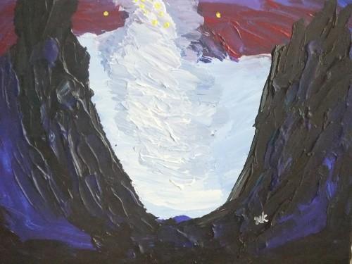 """סערת צונאמי, ציורו של ד""""ר אמי שופמן (צילום: פרטי)"""