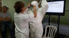 """תרגול מיגון צוות רפואי ב""""בני ציון"""" (צילום: """"בני ציון"""")"""