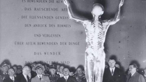 דגם אנטומי של גוף האדם שהוצג במוזיאון ההיגיינה הגרמני בדרזדן (צילום: באדיבות מוזיאון בית לוחמי הגטאות)