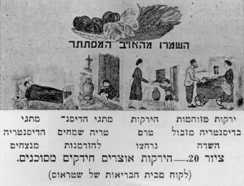"""מתוך ספרו של א.י. לוי, """"בריאות הציבור"""" (1935)"""