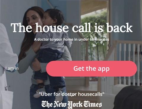 אתר האפליקציה Heal (צילום מסך)