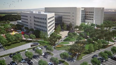 """הדמיית בית החולים """"אסותא"""" באשדוד (מקור: יח""""צ)"""
