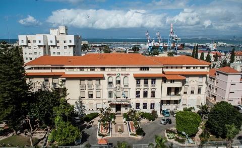 """בית החולים האיטלקי בחיפה (צילום: אליאס דאוד, יח""""צ)"""
