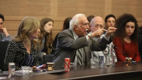 """פרופ' אליעזר רחמילביץ' (במרכז), נציג הר""""י בדיון (צילום: ועדת הבריאות של הכנסת)"""