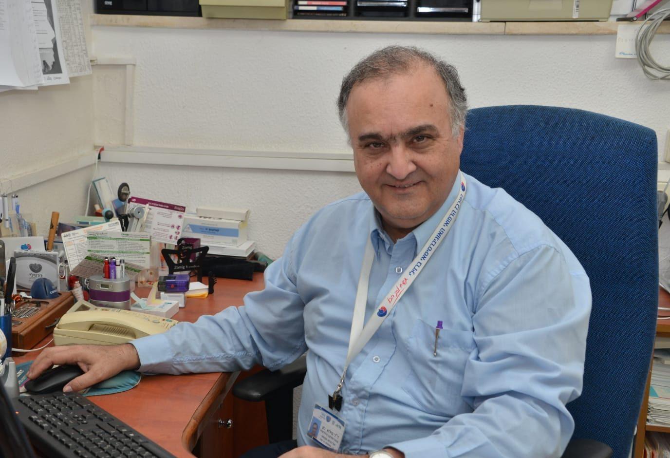 """ד""""ר רוני מילוא, מנהל המחלקה הנוירולוגית במרכז הרפואי ברזילי באשקלון"""